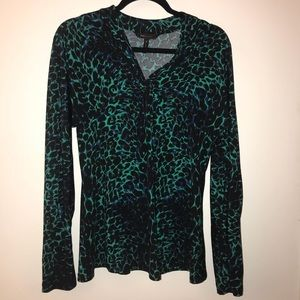 BCBGMAXAZRIA Animal Print Top